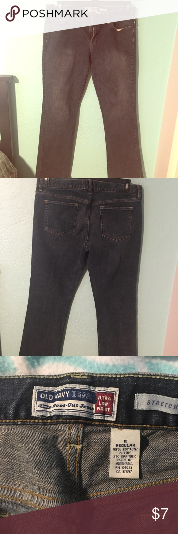 Old Navy Jeans ~I didn't like how they fit but they are super cute and simple pants. They do have some stretch making them comfortable for all day wear. ~size 10 Old Navy Jeans Boot Cut