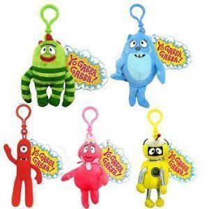 Basic Fun - Yo Gabba Gabba Key Clip - SET of 5 (Brobee, Plex, Toodee, Foofa & Muno) by Basic Fun. $27.99. Official Licensced Product. Each keychain is aproximately 2 inches tall and includes a keychain clip. For ages 5+. Yo Gabba Gabba! Keychain Set of 5. Characters included are: Muno , Foofa , Plex , Brobee and Toodee. Here we gooooo! Collect all 5 characters from the retro-inspired TV sensation Yo Gabba Gabba! Choose from Muno, Foofa, Plex, Brobee, and Toodee. You'll ...