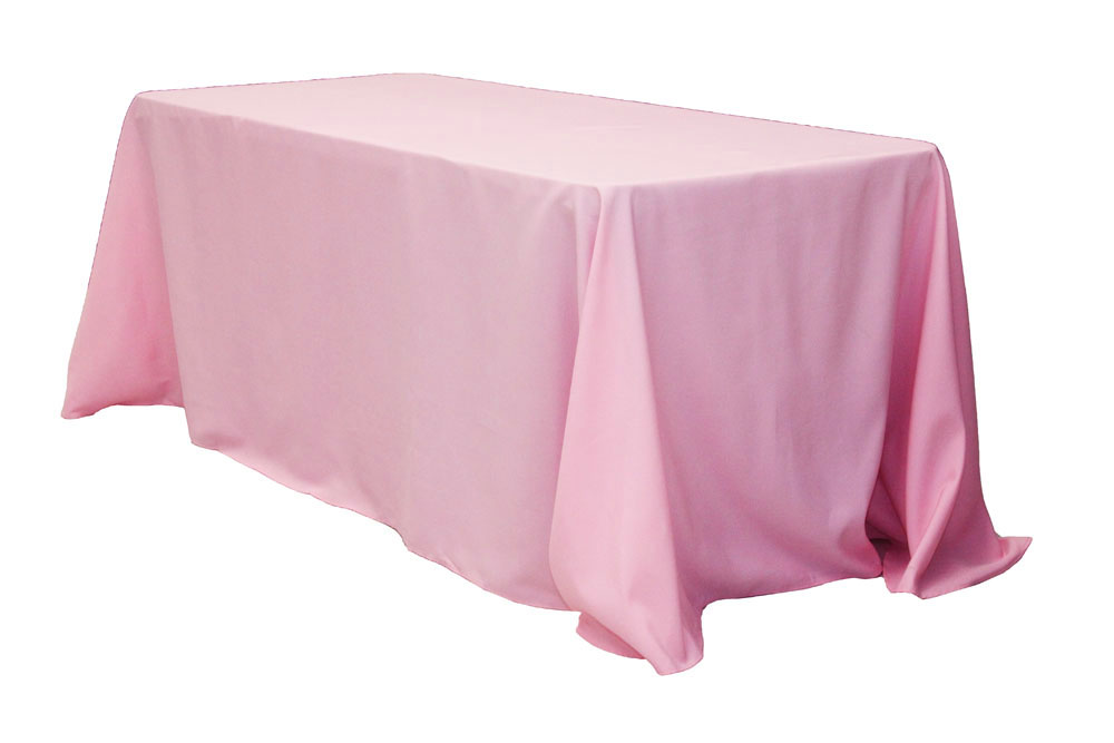 90 X132 Rectangular Oblong Polyester Tablecloth Pink Blush Tablecloth Table Cloth Rectangle Tablecloth
