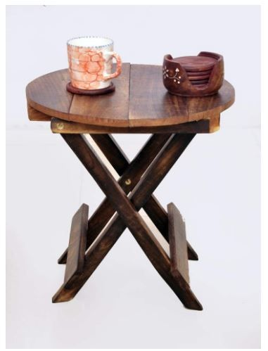 Click to open expanded view SK SHOPING Store - Handmade Coffee Table Antique Look Natural Wood with Living Room Table & END Table Size (12 * 12 * 12)
