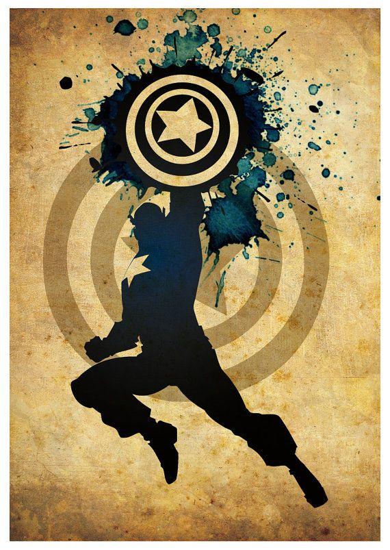 Vintage Minimalist Superheroes Poster Set