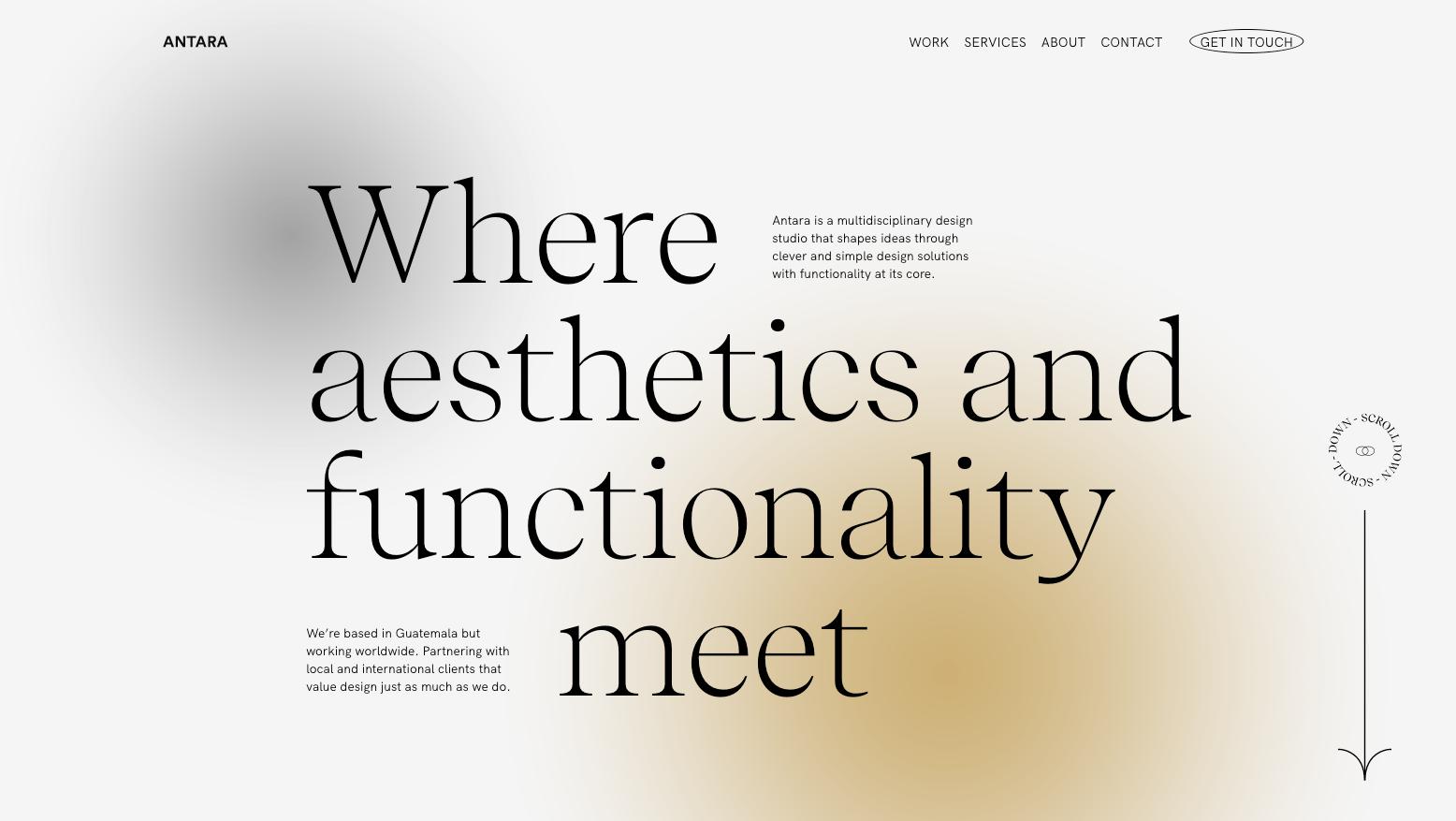 Antara Studio In 2021 Website Layout Inspiration Studio Website Layout