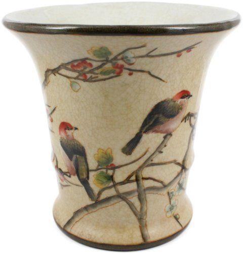 HomArt Small Autumn Cherry Blossom Porcelain Cachepot By