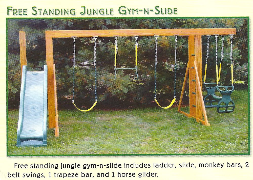 Gorilla Free Standing Swing Set With 4 Swings Yahoo Image Search