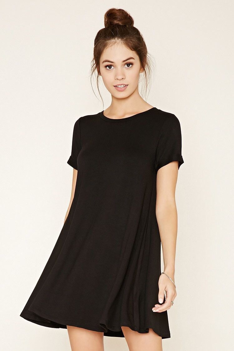 Minimalistic tshirt dress large black outfit and accessories
