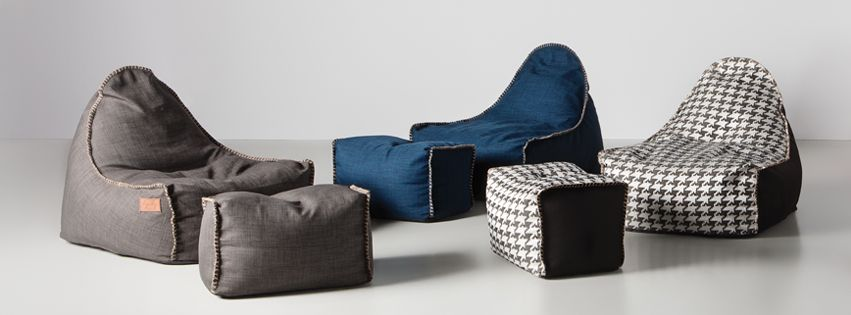woog bean bag and matching ottoman woog fauteuil poire et pouf assorti cocooning pinterest. Black Bedroom Furniture Sets. Home Design Ideas