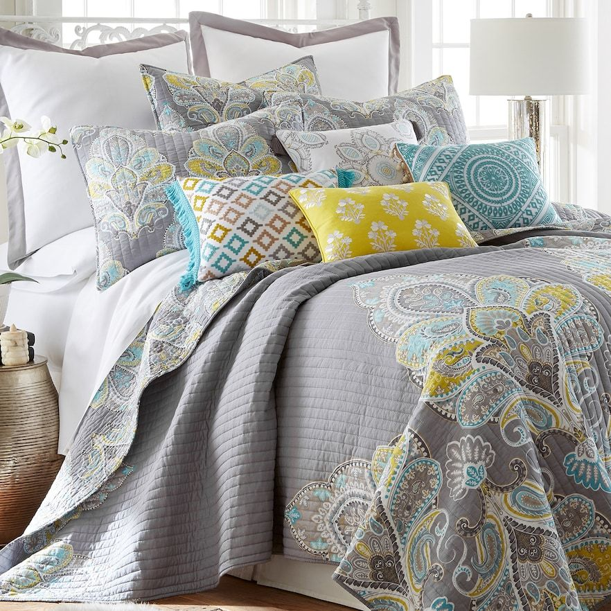 Levtex Home Cressley Quilt Set Sets King Yellow Bedding