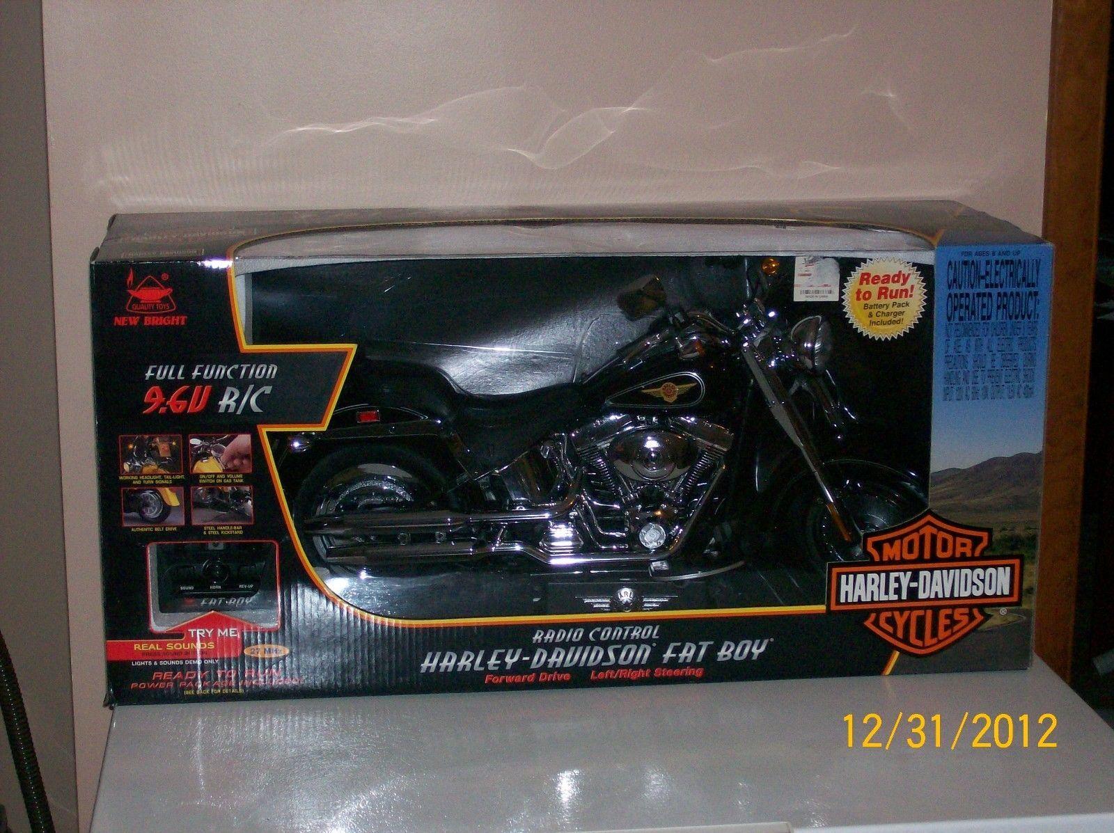 Big boy toys car  Harley Davidson Fat Boy V RC remote control motorcycle BIG BOY