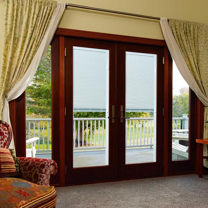 New Products Hinged Patio Doors Blinds Enclosed Blinds