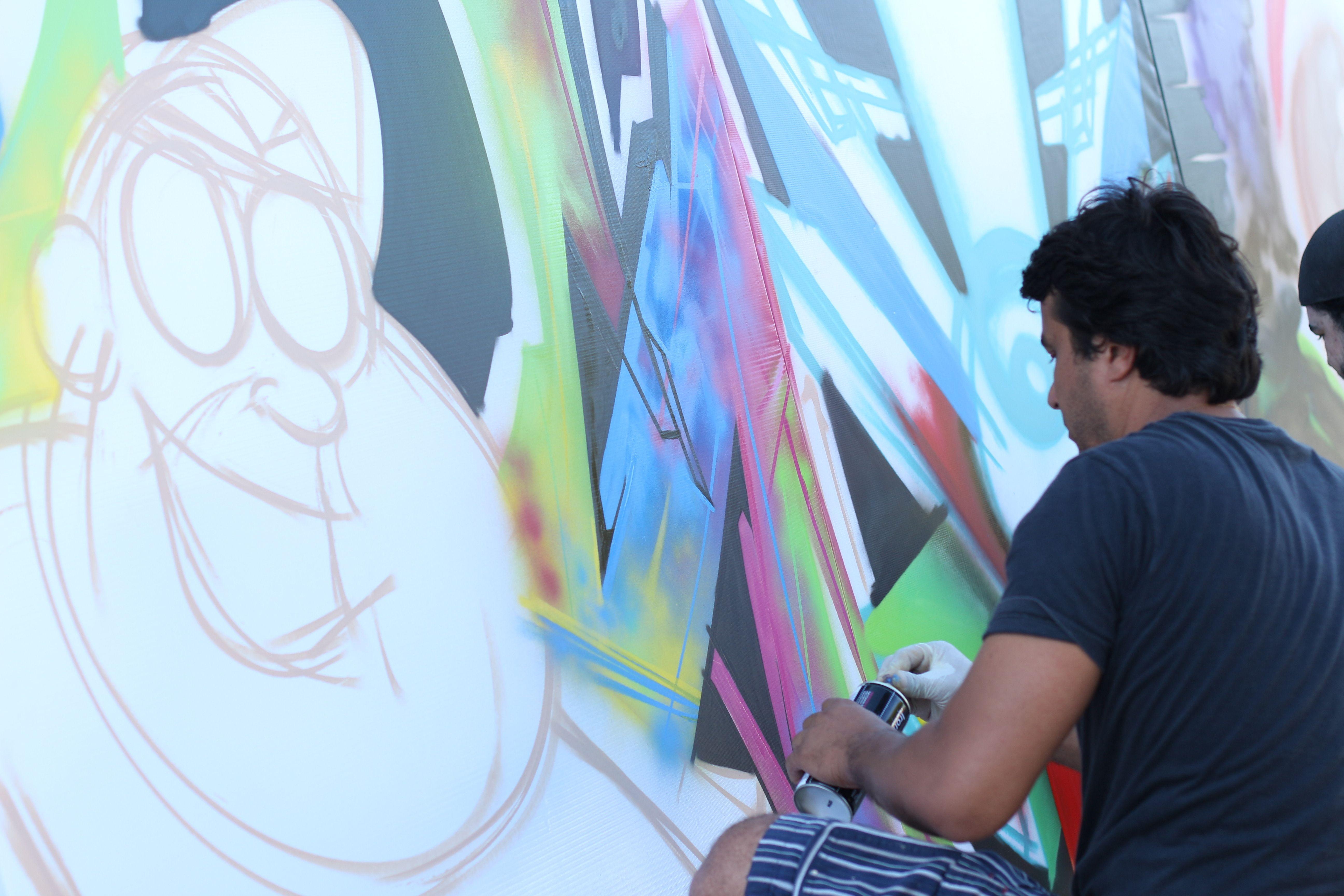 Live Painting no evento Kekanto na Galeria Urbamix em Goiânia.