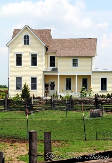 I want to live here beautiful house for Country farm simples