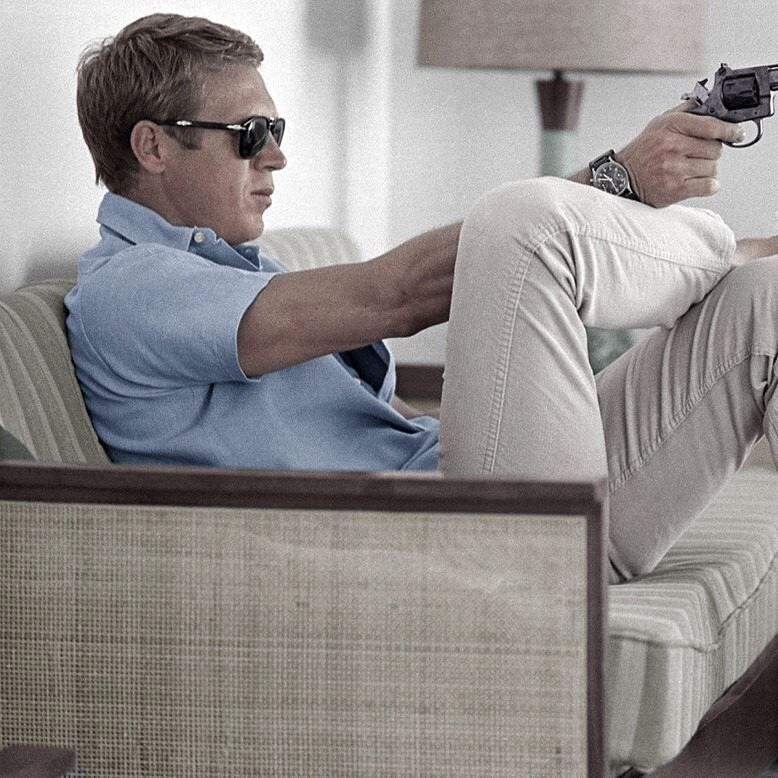 452d38fbb3 bosignani  Summer gear according to Steve Mcqueen (minus the gun). Polo  chinos and  persol shades.  persol649  styleicon  stevemcqueen  bosignani