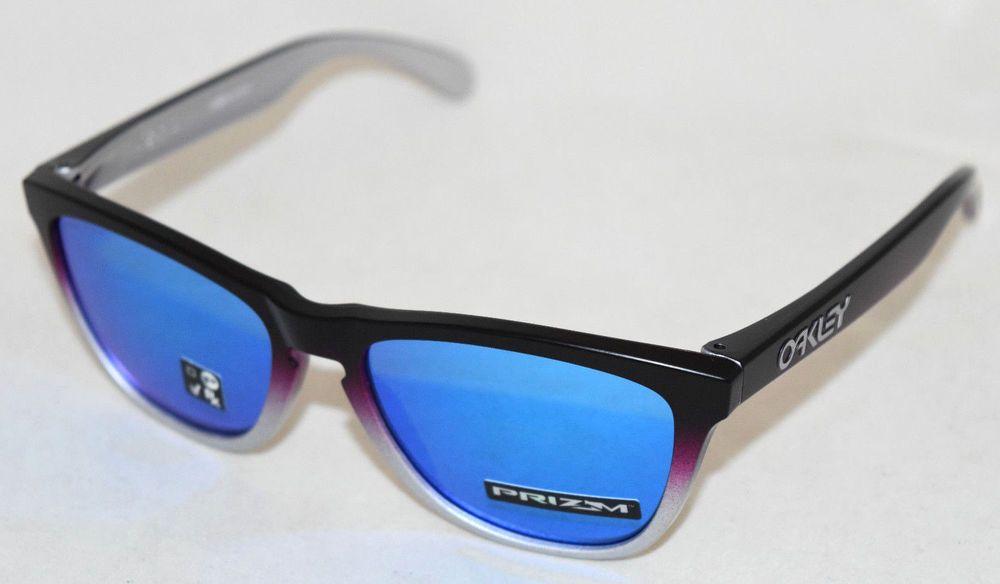 3e95616de0 eBay #Sponsored NEW OAKLEY FROGSKINS OO9013-F055 SPLATTERFADE BLACK/PINK W/  PRIZM SAPPHIRE LENS