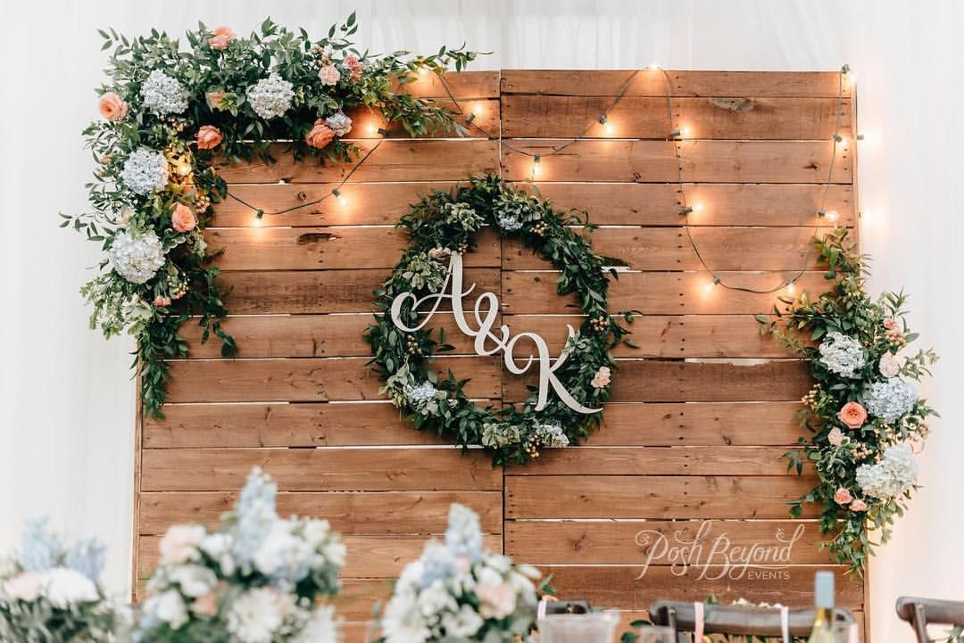 We built this pallet backdrop specifically for this wedding and I'm so happy with how it turned out  It has been a popular item for our…
