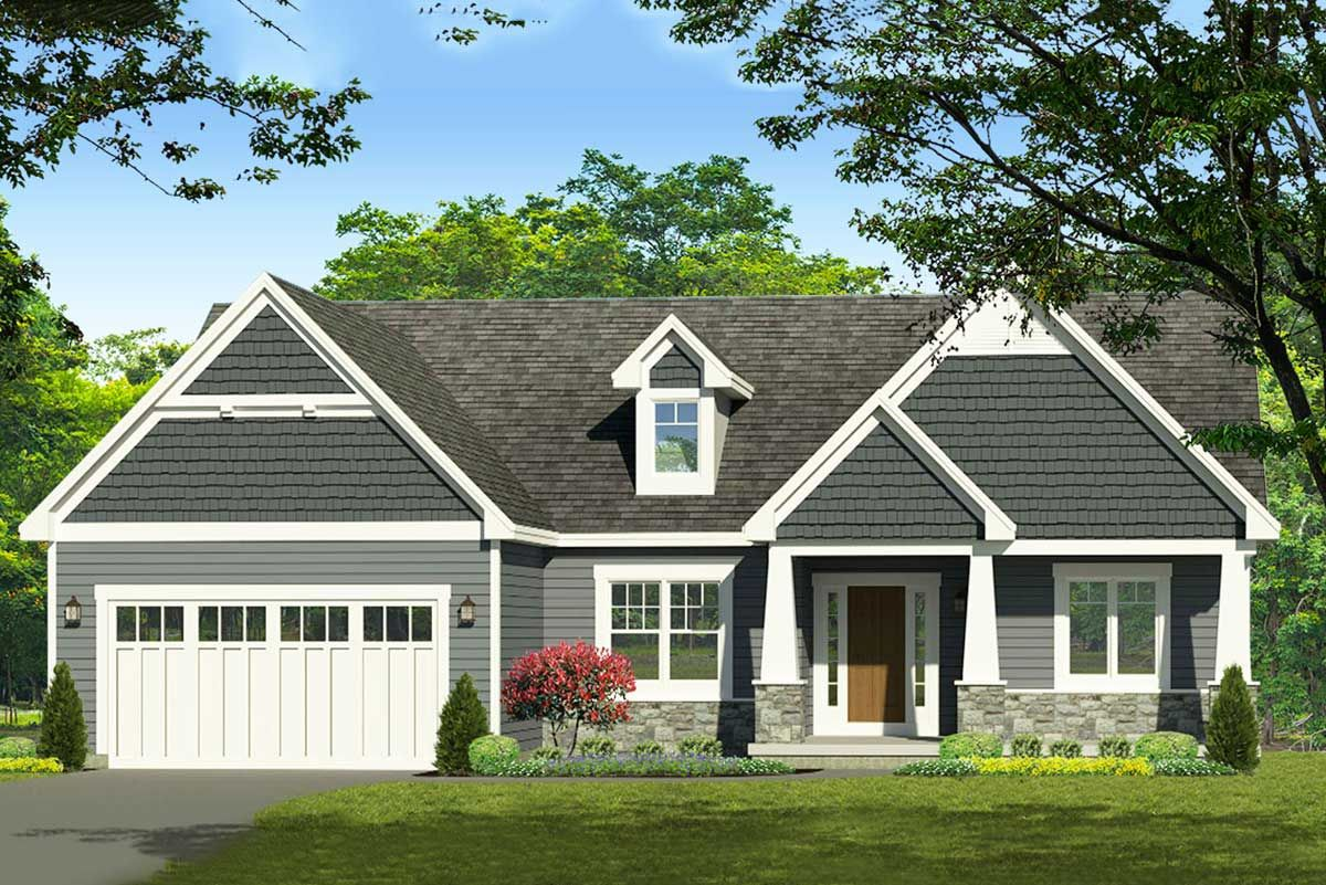 Plan 790022glv Exclusive 3 Bed Craftsman Ranch Home Plan With Master Bath Option Craftsman House Plans Craftsman Style House Plans Craftsman House