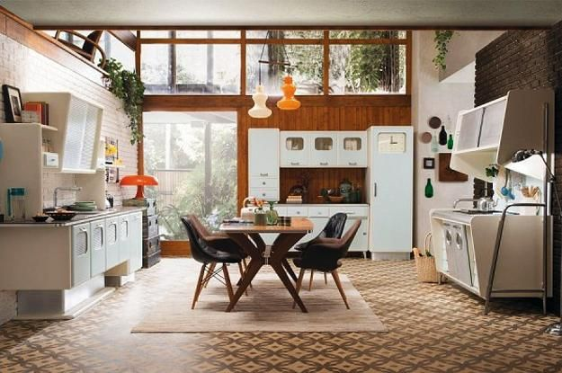 20 Modern Interior Design Ideas Reviving Retro Styles Of Mid Century Homes Mid Century Modern Kitchen Design Americana Home Decor Modern Kitchen Design