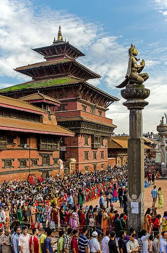 Festive rush in Patan
