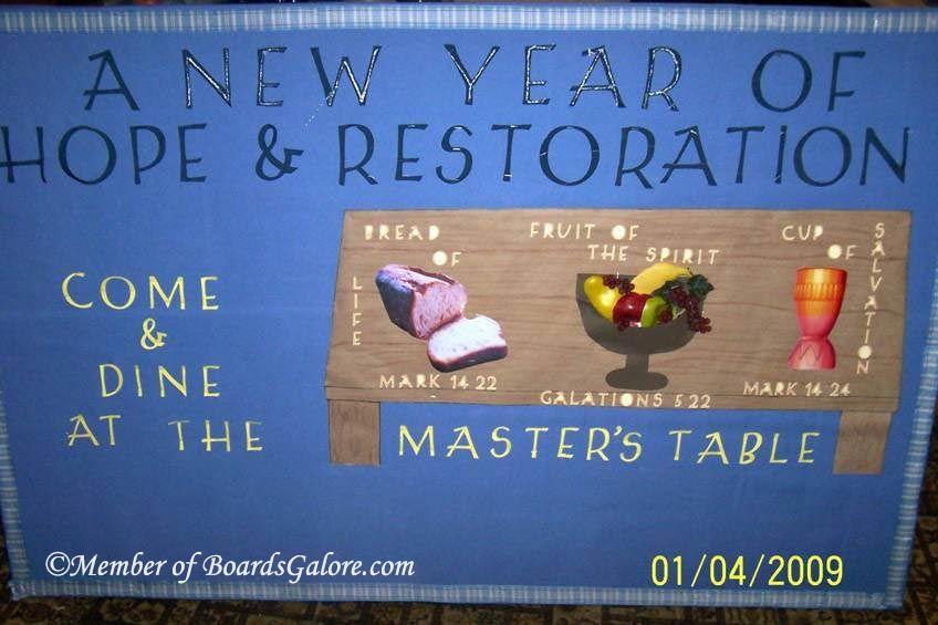 New Years Bulletin Board Idea Church bulletin boards