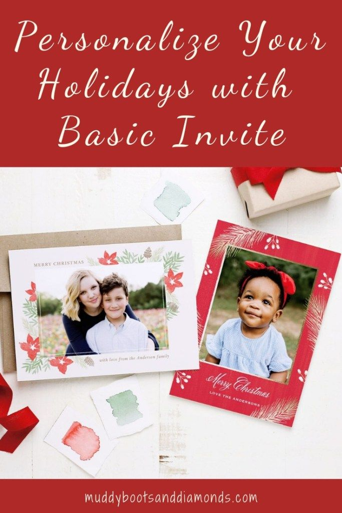 Personalize Your Holidays with Basic Invite via ...