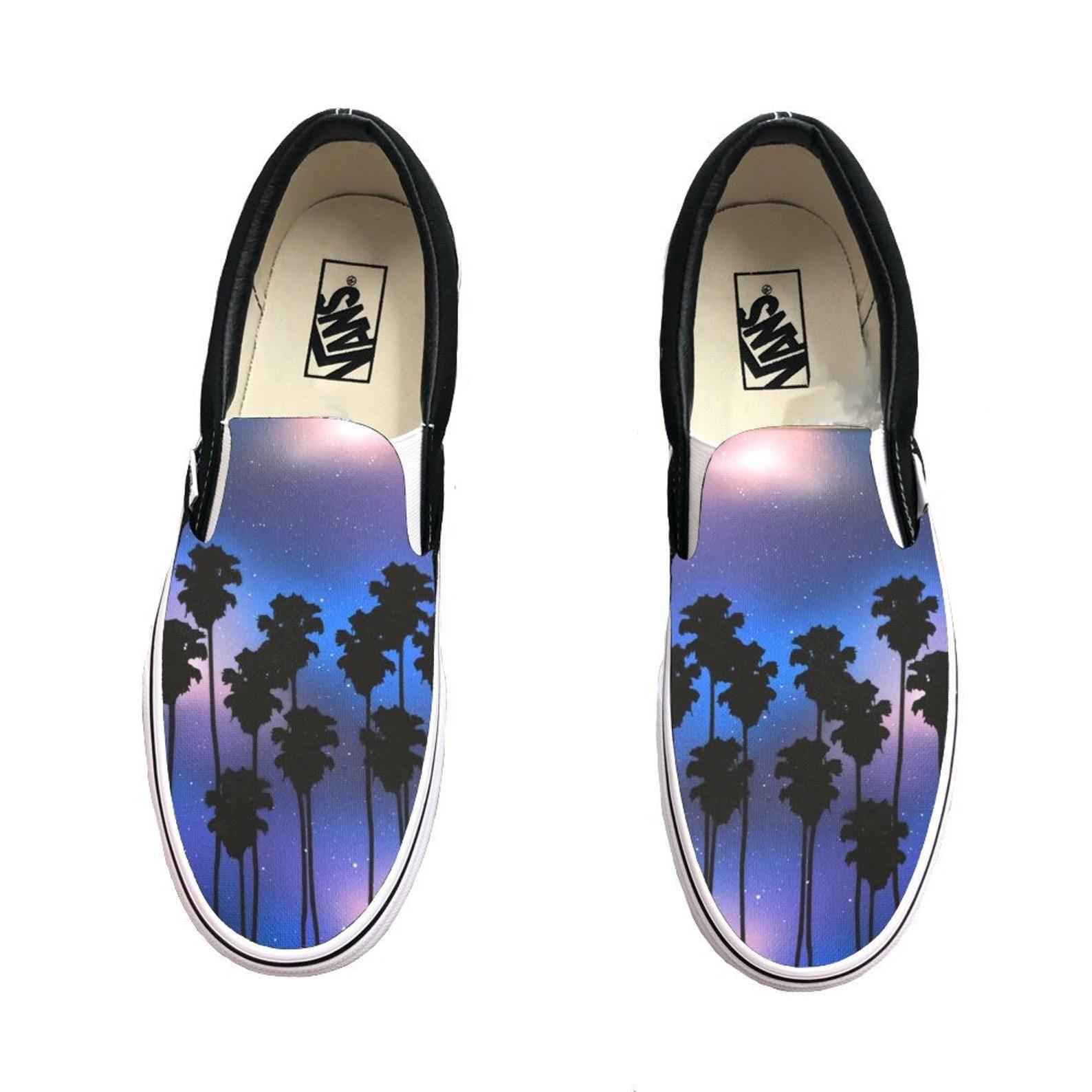 VANS Tropical Leaf Slip On Shoes Size: 8.5