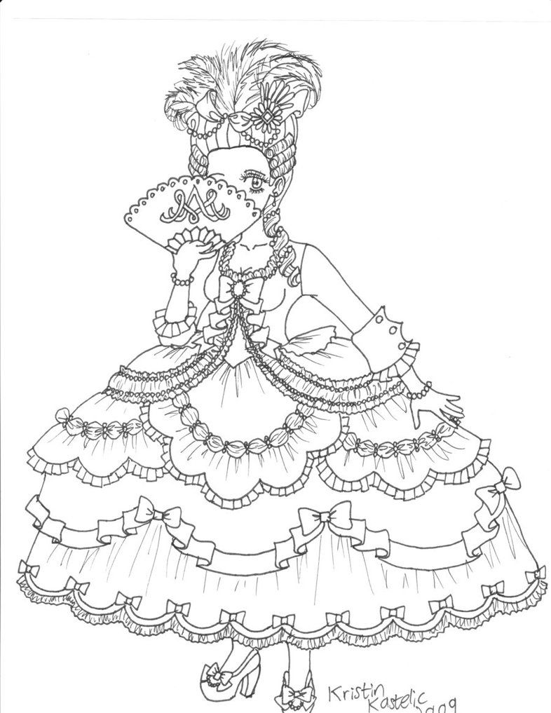 Marie Antoinette By Louis Etoile On Deviantart Coloring Pages Marie Antoinette Coloring Pictures