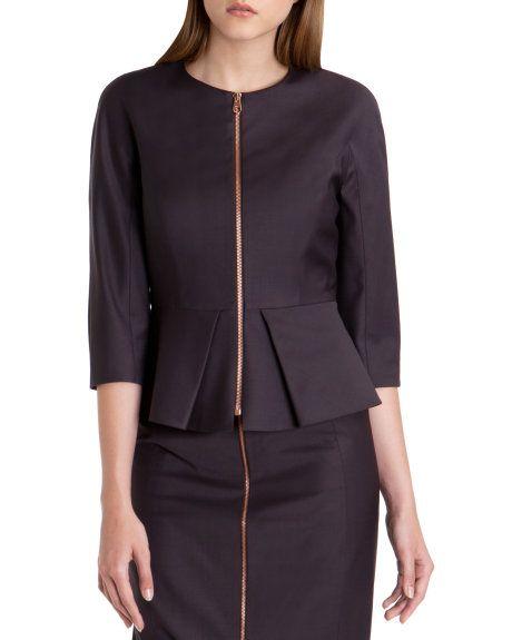 Peplum suit jacket - Grape | Suits | Ted Baker | Available at Utah Woolen Mills. Downtown Salt Lake City 59 W South Temple. 801 364 1851