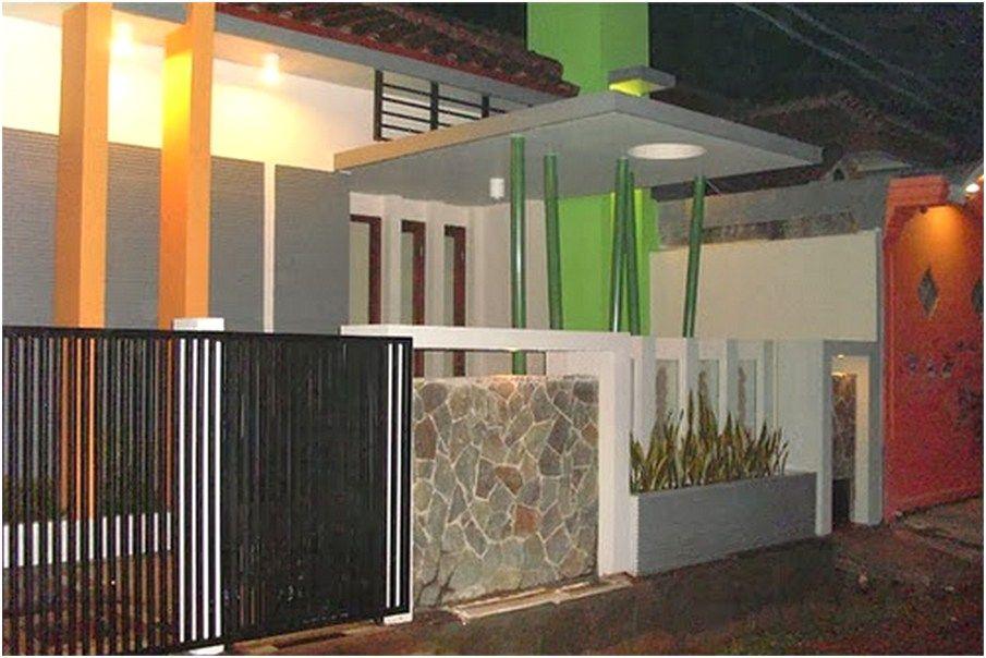 Model Desain Tembok Pagar Rumah Minimalis Cantik Rapi