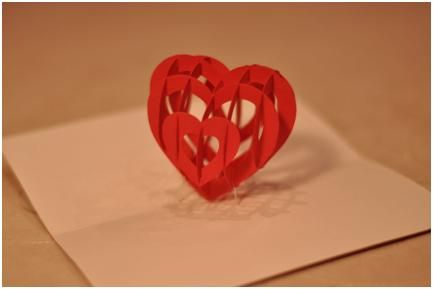 Valentines day pop up card 3d heart part 2 valentines day pop up heart card to make with instructions and template maxwellsz