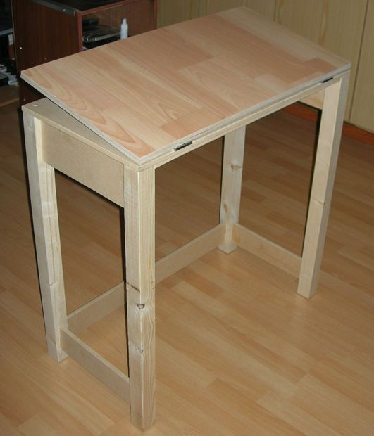 Picture Of Adjustable Drafting Table With Basic Tools And Materials