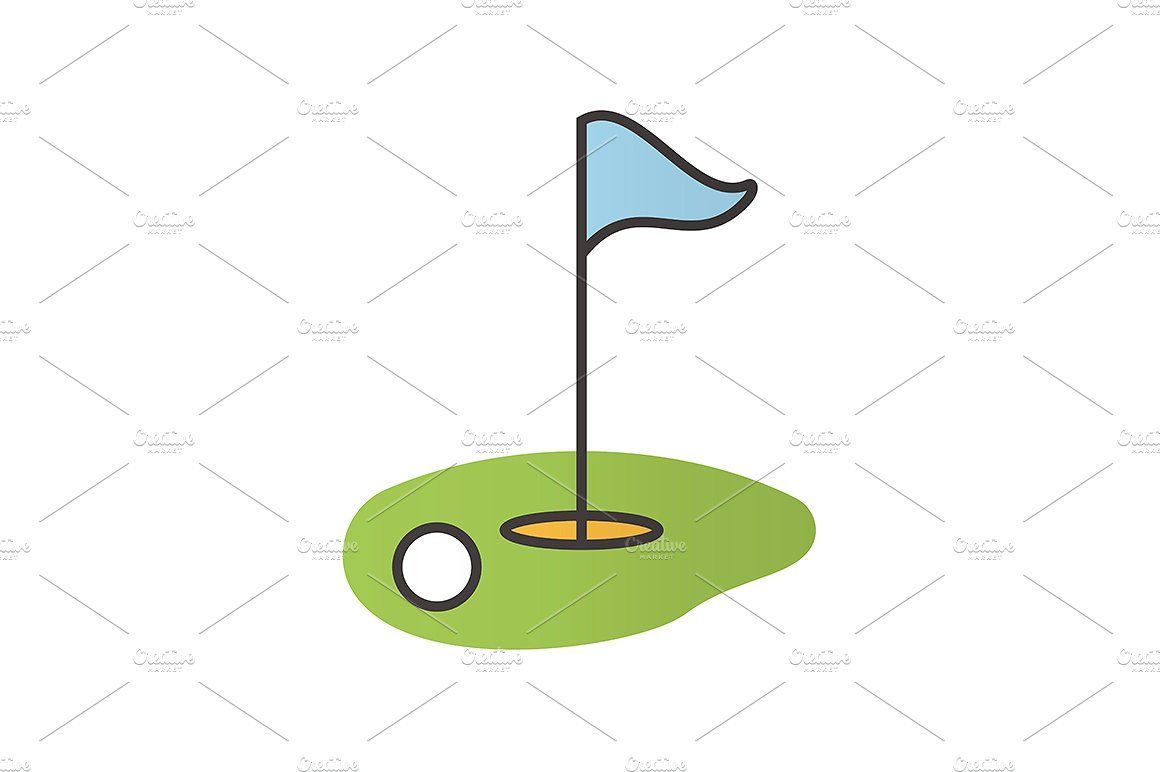 Golf Course Icon Vector Golf Courses Icon Vector Illustration
