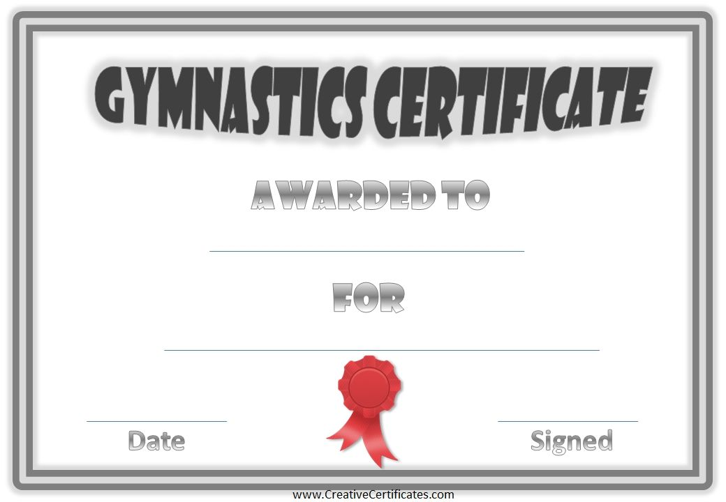 Gymnastics Awards Places to Visit Pinterest Gymnastics and - new printable sport certificates