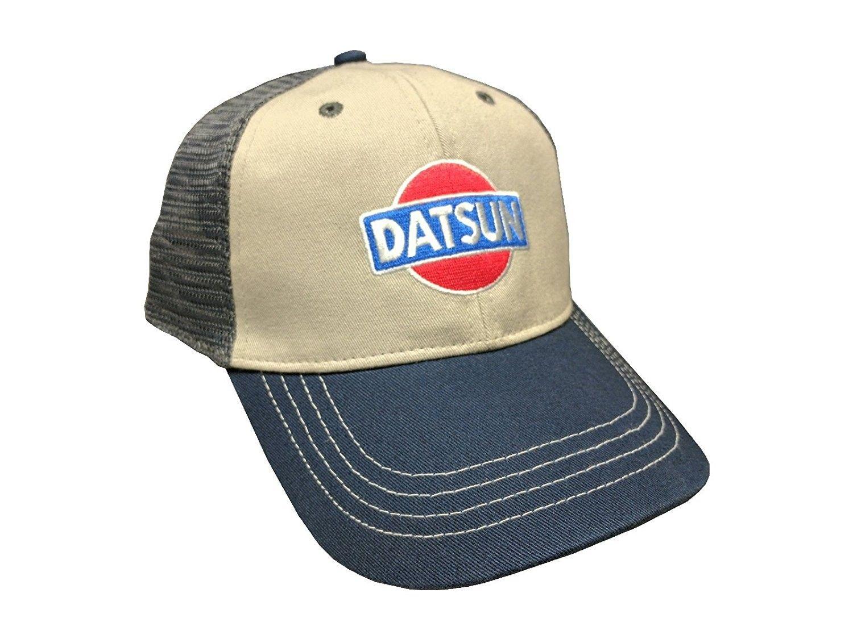 75bf94603e0 Custom Nissan Datsun Mesh Snapback Cap - Tri-Tone - CX12N46I7IC - Hats    Caps