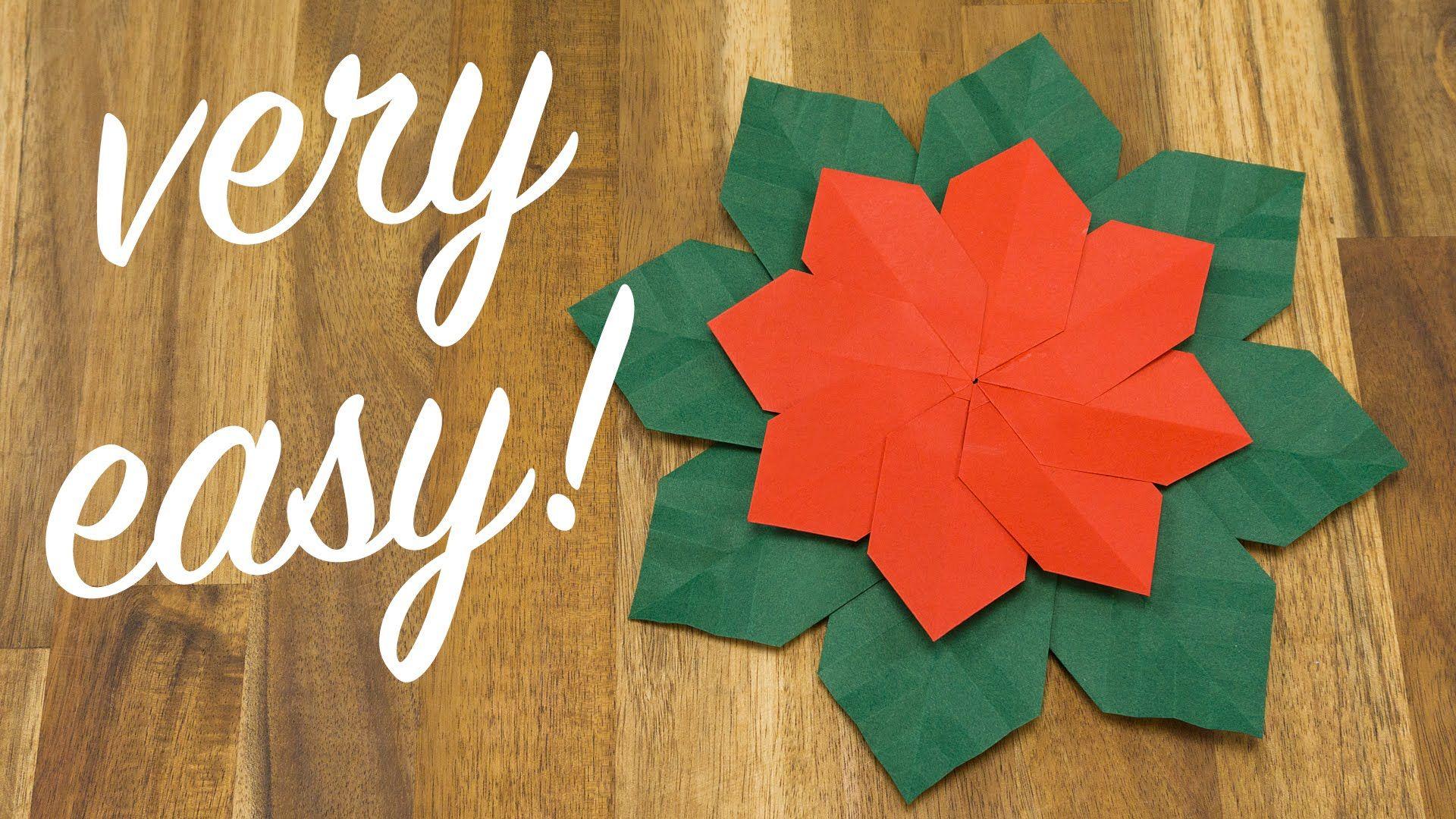 Christmas Flower Origami Tutorial Easy Diy Holiday Decoration