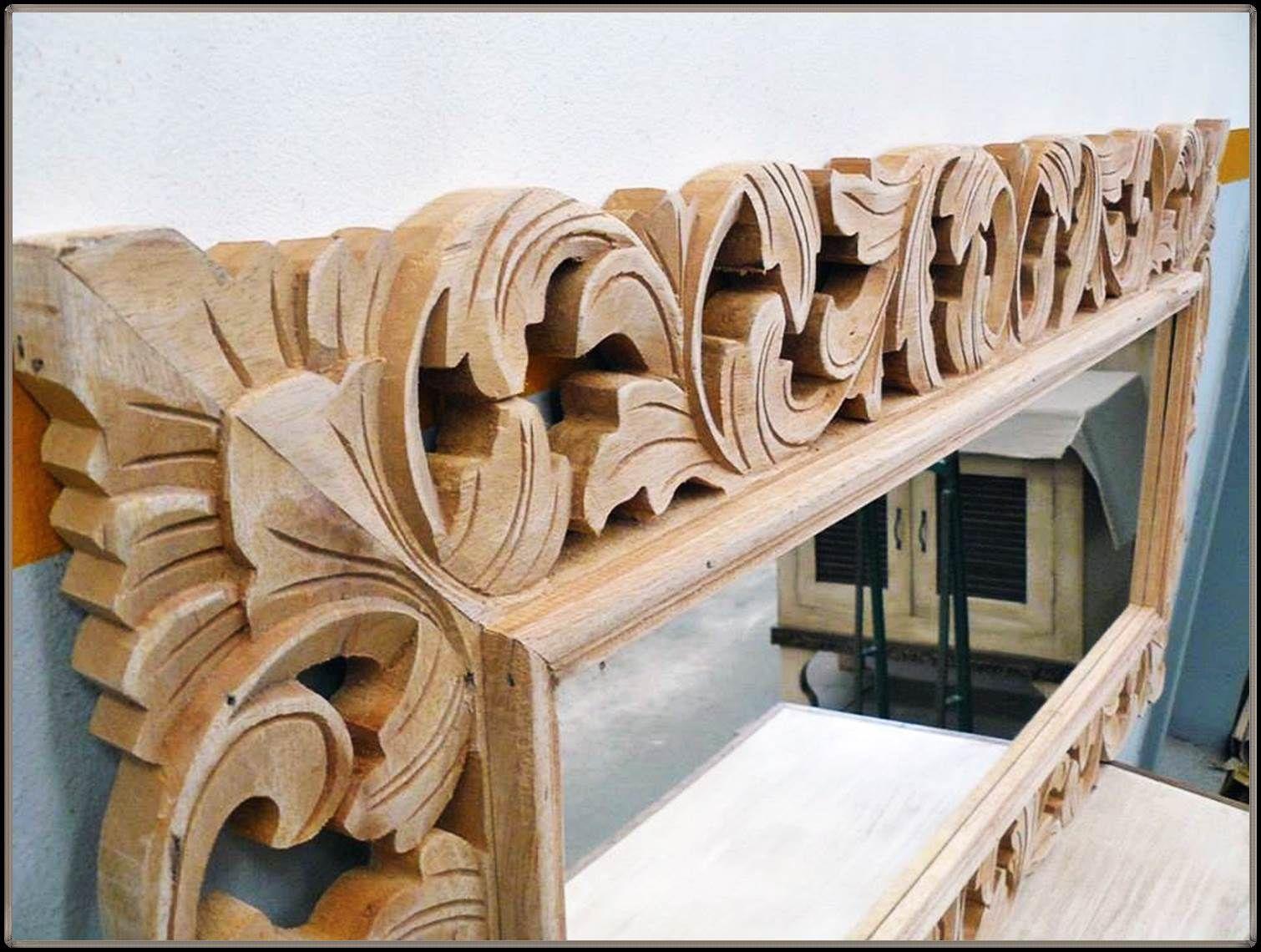 marcos de espejos tallados en madera  Talla en 2019