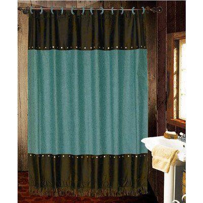 Hiend Accents Cheyenne Shower Curtain Turquoise Hiend Accents