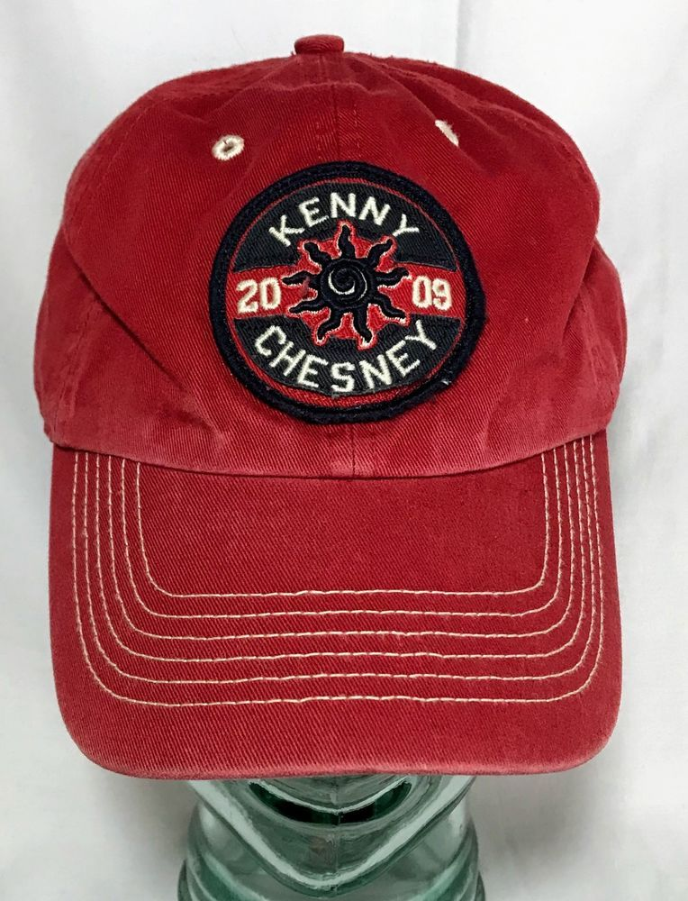 Kenny Chesney Concert Hat Sun City Carnival Tour 2009 Patch Red Strapback  Cap 09  Nineteen47Brand  BaseballCap 5ea50a5a981