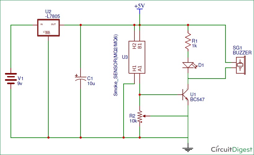 Smoke Detector Alarm Circuit Diagram