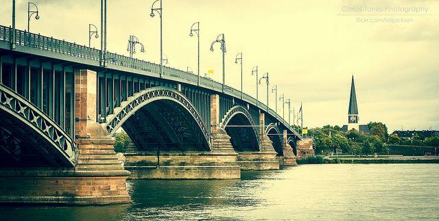 Bridge Bridge Over The River Mainz
