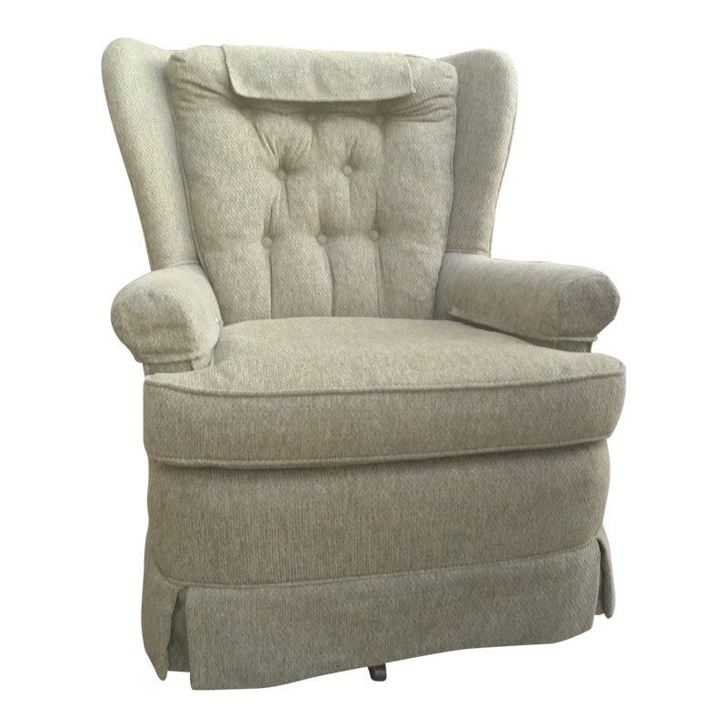 Awe Inspiring Mid Century Winged Back Swivel Rocking Chair Products Gamerscity Chair Design For Home Gamerscityorg