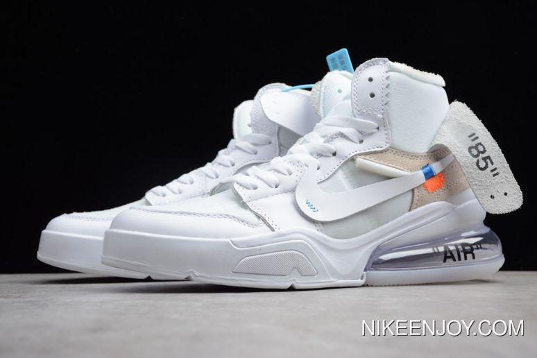 Off White X Air Jordan 1 High Og X Nike Air Force 270 White White