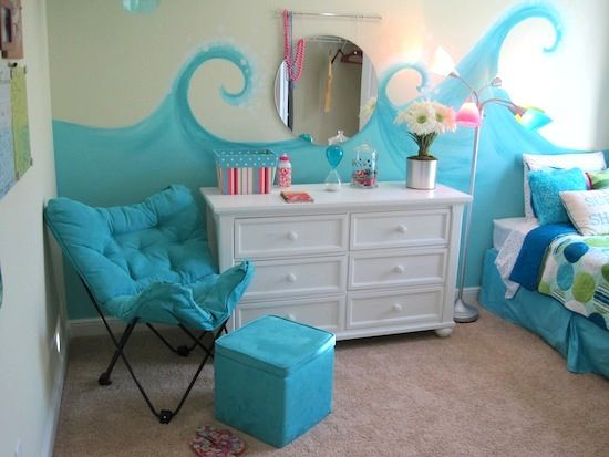 Girls beach bedrooms on pinterest beach bedroom girls for Blue beach bedroom ideas