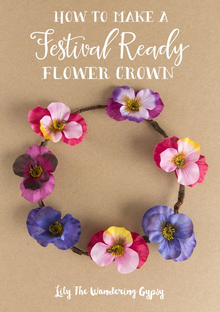 How to make a festival ready flower crown flower crowns crown how to make a festival ready flower crown izmirmasajfo Choice Image