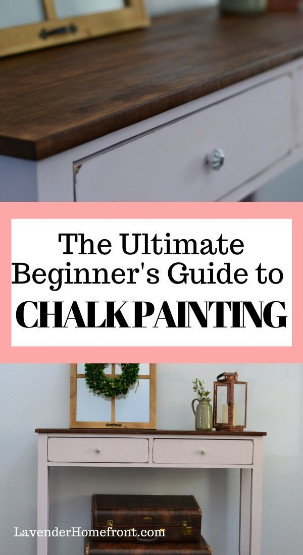 This ultimate beginner's guide to chalk painting will have you painting furniture like a professional. #furnitureflipping #chalkpainting #DIYhomedecor #DIYcrafts
