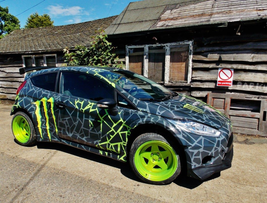 Our Latest Top Secret Project For Monster Energy Replica Of Ken Blocks Fiesta Http Www Monsterenergy Com Fr Fr News Car Wrap Car Wrap Design Car Graphics [ 805 x 1059 Pixel ]