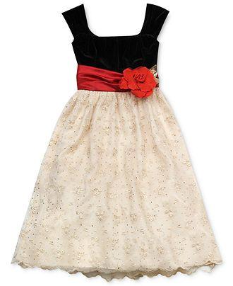 Rare Editions Girls Dress Girls Traditional Holiday Dress