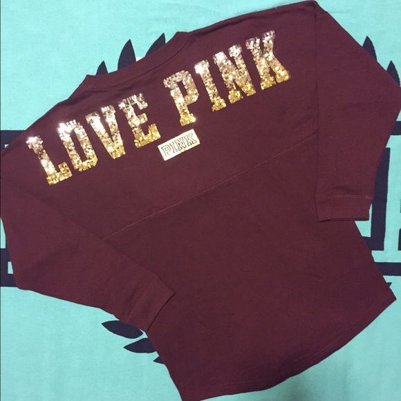 VS PINK BLING OMBRÉ VARSITY NEW ❤️ VS PINK NEW  SIZE: MEDIUM FIT RUNS OVERSIZED ❤️SHIPPING MON-SAT SAME OR NEXT DAY  ❌NO TRADES ❌PRICES ARE FIRM, DO NOT ASK LOWEST! THIS IS THE LOWEST PRICE UNLESS YOU BUNDLE! ❌NO FREE SHIPPING UNLESS STATED OTHERWISE ✔️DO ASK TO BUNDLE, SOME ITEMS ARE ALREADY AT THE LOWEST POINT ✔️DO RATE IN A TIMELY FASHION, AS YOU WANT YOUR ITEM QUICKLY, I WANT TO GET PAID. ✔️ITEMS ARE NEW IN PLASTIC OR NEW WITH TAGS ONLY TAKEN OUT FOR PICTURES. ✔️SHIPPING MON-SAT SAME OR…