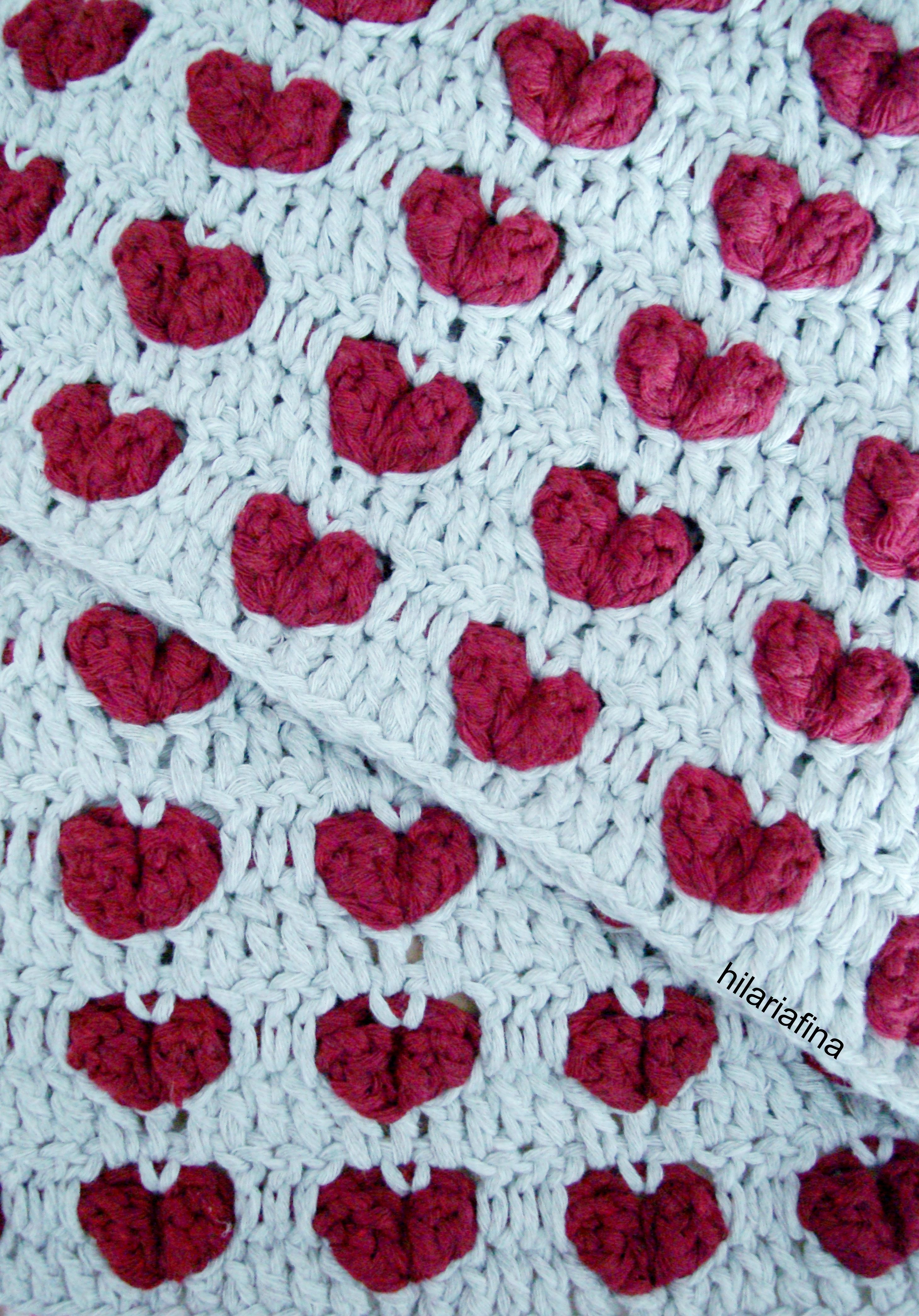 Crochet Heart Stitches ❥ 4U hilariafina http://www.pinterest.com ...