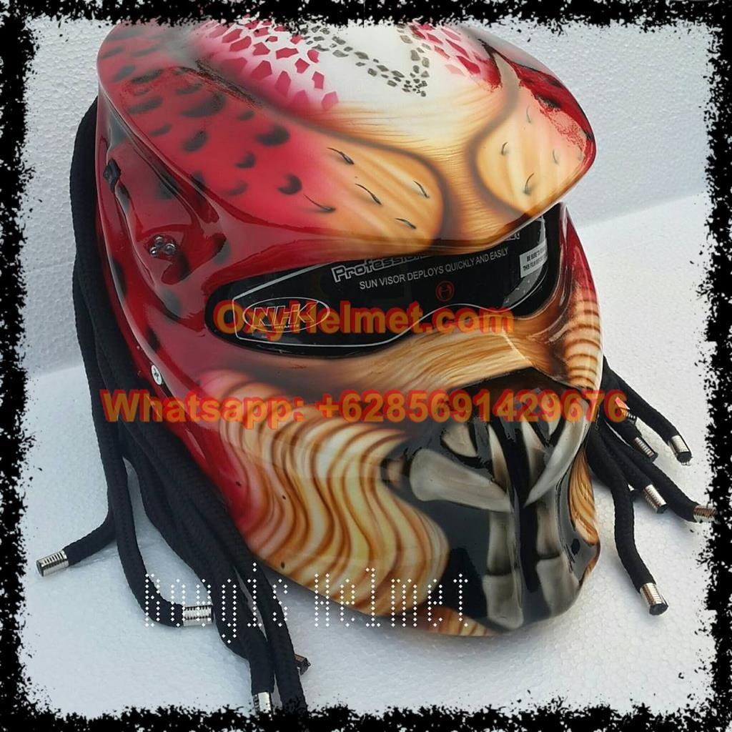 Predator Helmet Indonesia In 2020 Predator Helmet Helmet Motorcycle Helmets
