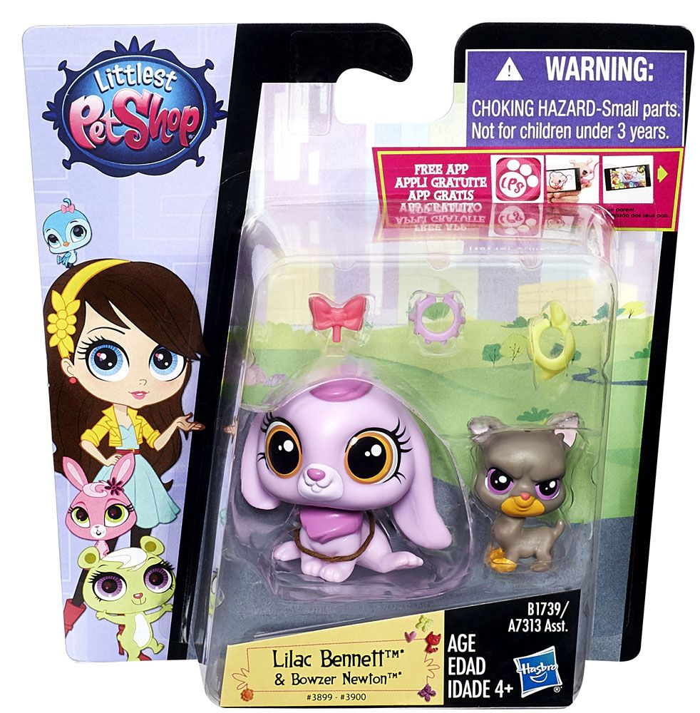 Littlest Pet shop, plusieurs modèles de paquet 2 figurines