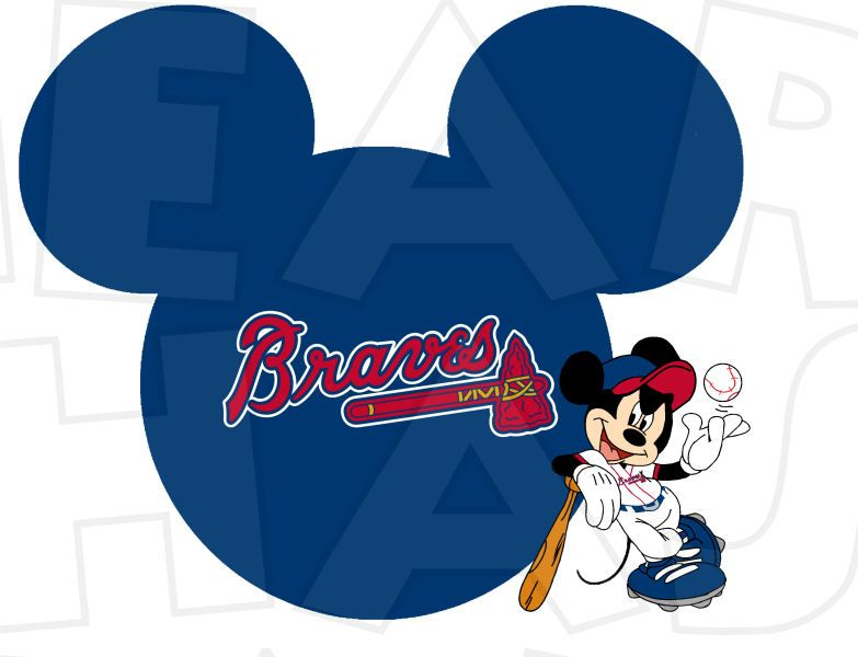 014c89f3f1b295 Atlanta Braves baseball with Mickey Mouse INSTANT DOWNLOAD digital clip art  DIY for shirt :: My Heart Has Ears